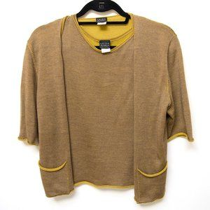 VIntage Krizia Maglia Silk Sweater Set sz 44